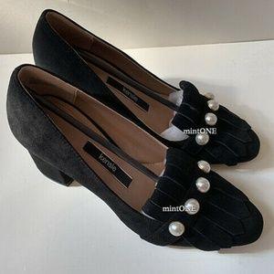 NIB Kensie black suede peal studded pumps size 7
